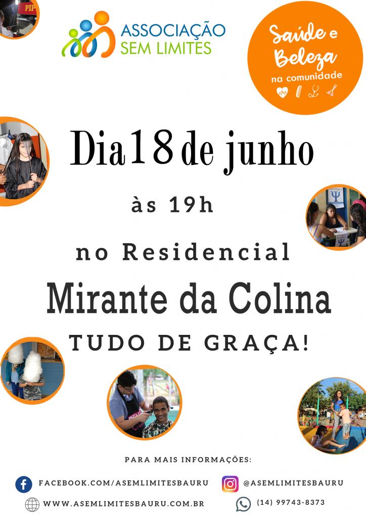 Cartaz de divulgação do Saúde e Beleza no Residencial Mirante da Colina. (Arte: Divulgação)