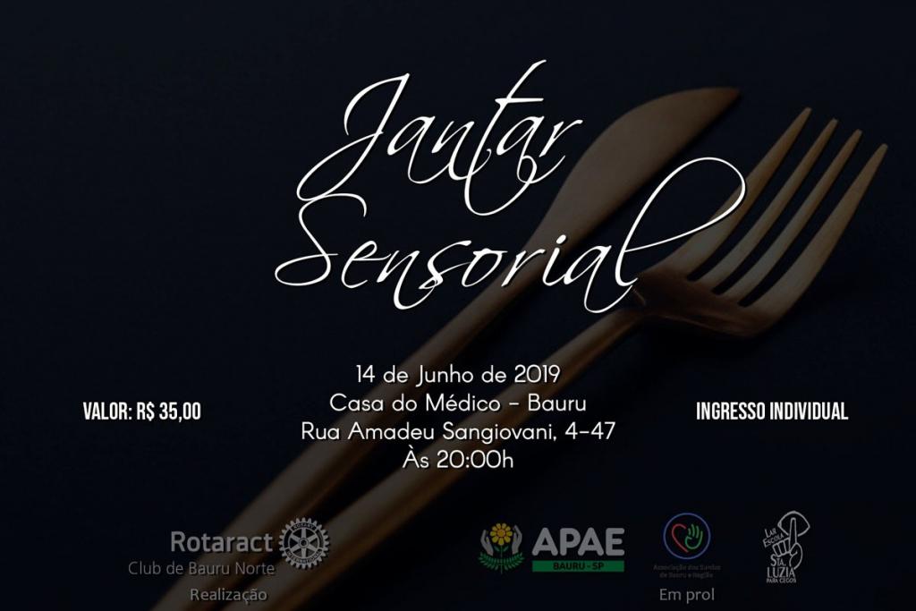 Cartaz de divulgação do jantar sensorial