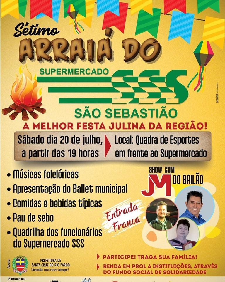 Fôlder de Divulgação da Festa do Supermercado São Sebastião