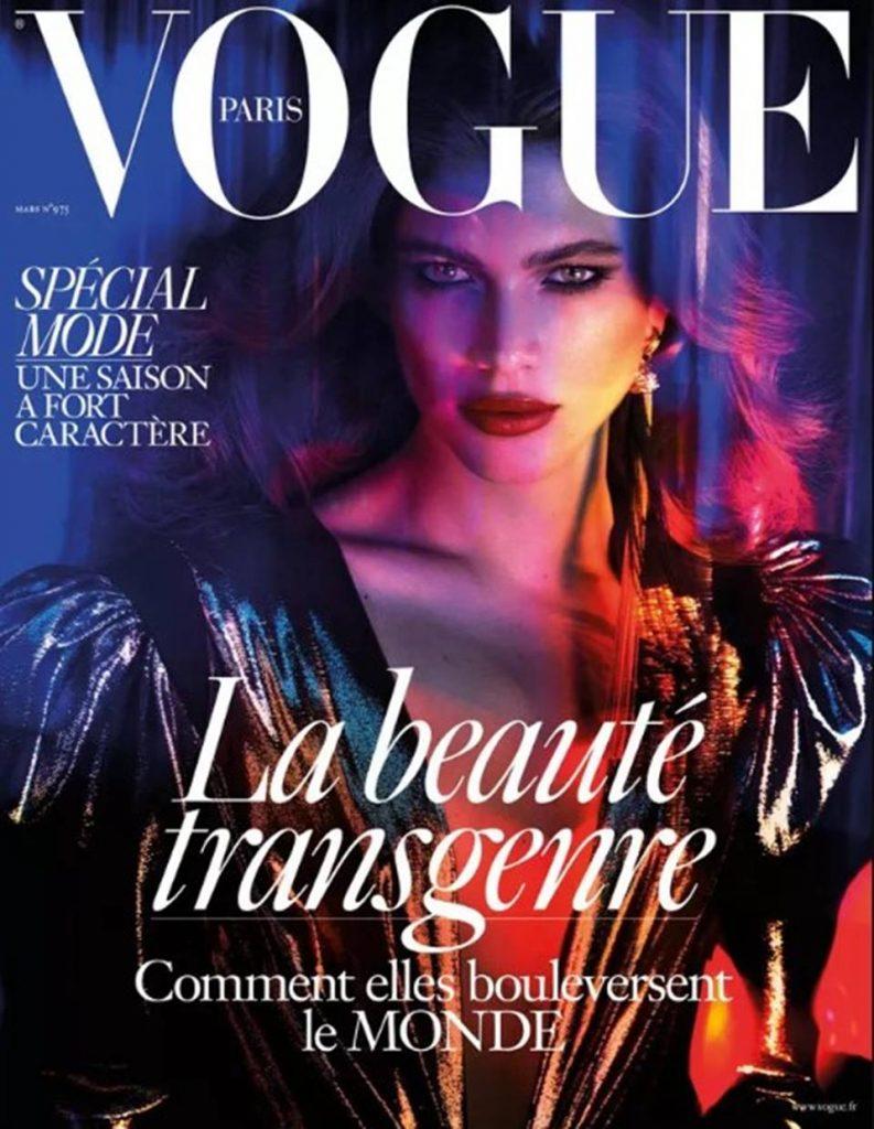 Em 2017, a brasileira estampou a capa da Vogue Paris.