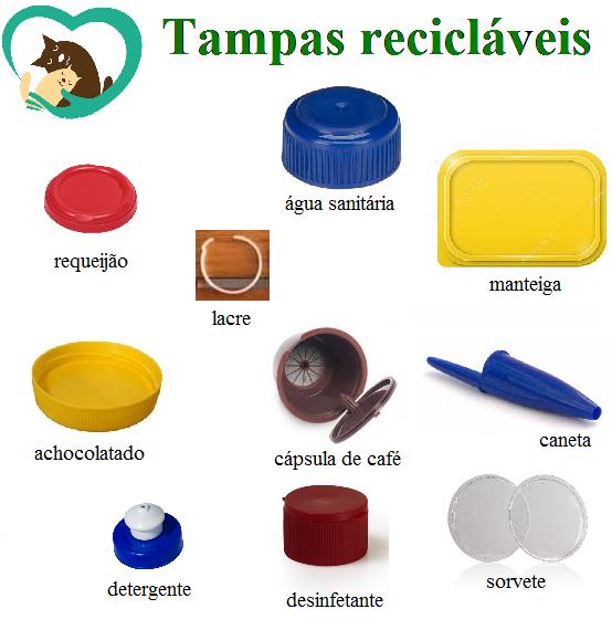Projeto Eco Patinhas está arrecadando tampas plásticas para reciclar e angariar fundos para a castração de animais. (Foto: Acervo Pessoal)