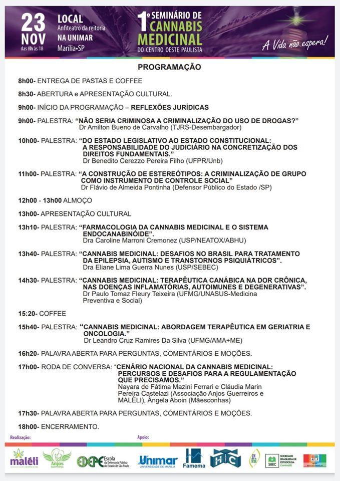 73197315 2346784155451220 5949705516681789440 o Marília (SP) recebe o 1º Seminário de Cannabis Medicinal do Centro Oeste Paulista