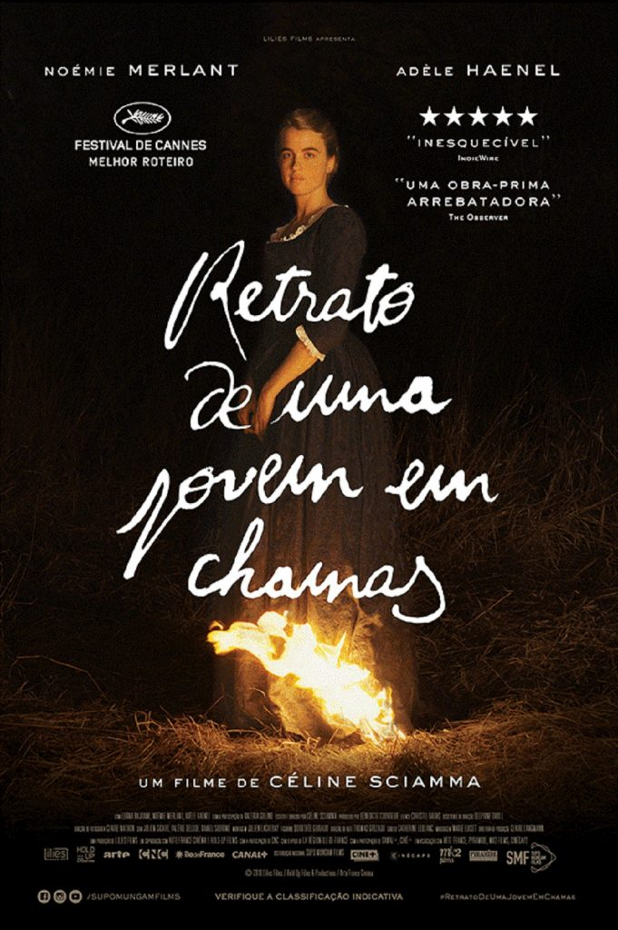 Cartaz oficial do filme Retrato de uma jovem em chamas