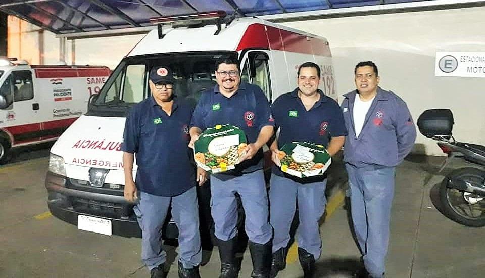 Pizzarias prudentinas mandam pizzas aos profissionais da saúde durante a pandemia