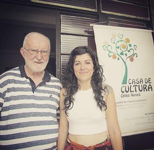 Paulo Neves ao lado da filha Talita Neves.  Conheça a história do Teatro Municipal de Bauru