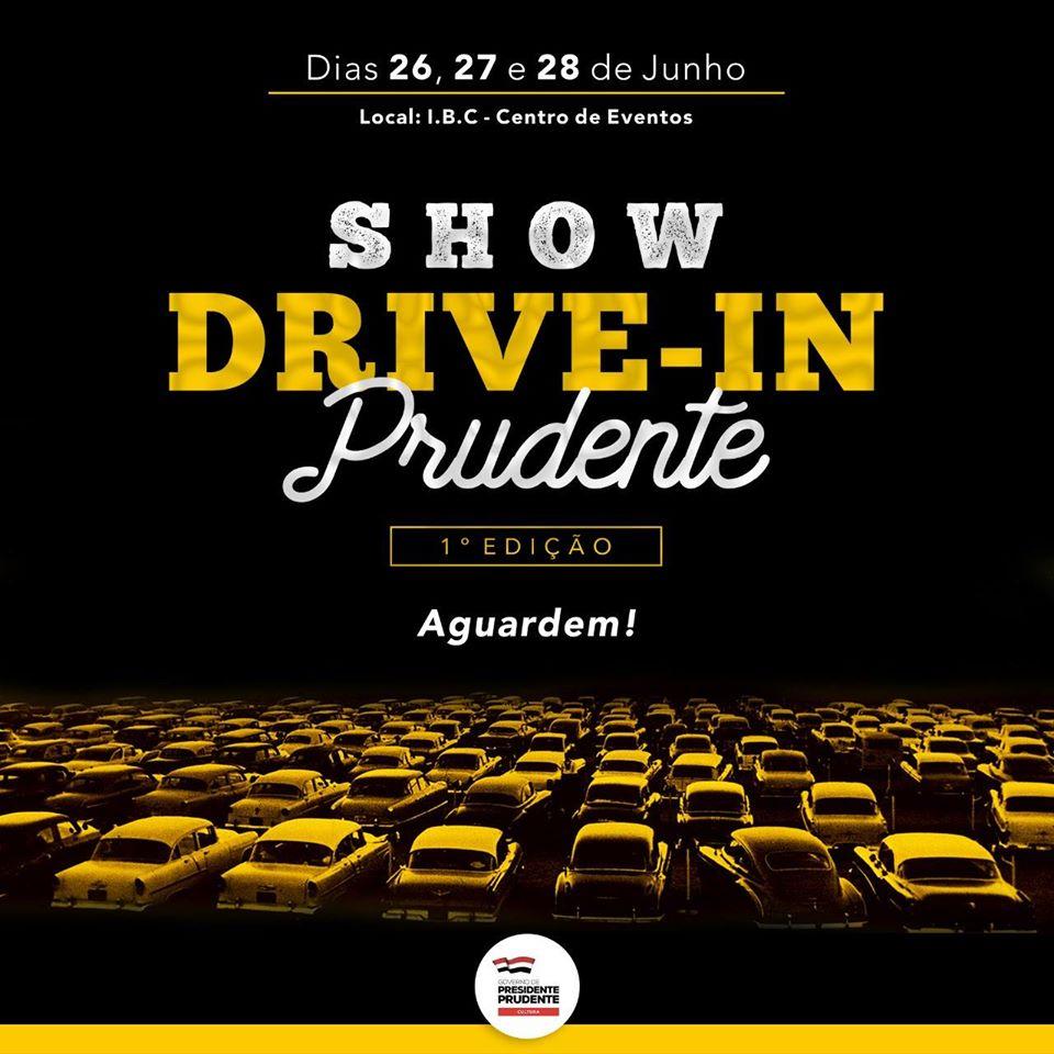 """Primeira edição do """"Show Drive-In"""" com artistas de Presidente Prudente acontece neste mês no IBC Centro de Eventos"""