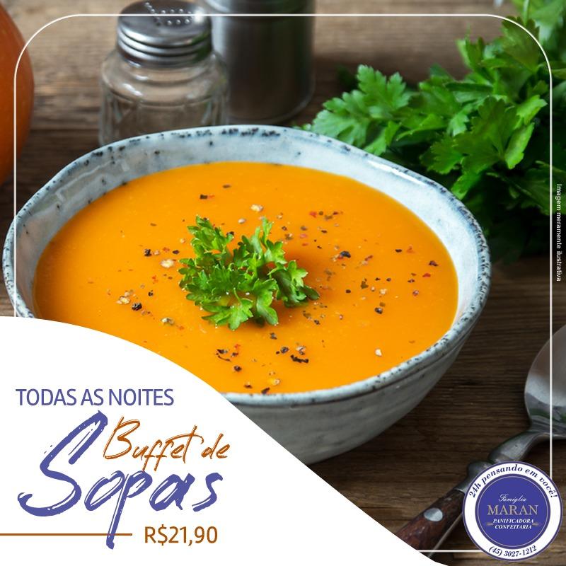 Descrição: Tigela com sopa e salada  Descrição gerada automaticamente