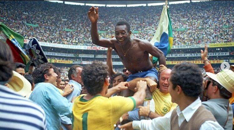 Pelé no tri da Copa do Mundo