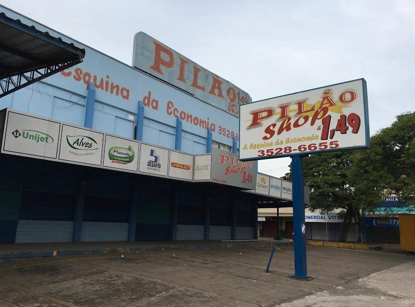 """Fachada loja Pilão quand ainda era 1,49 - Denominada: """"Esquina da Economia"""""""