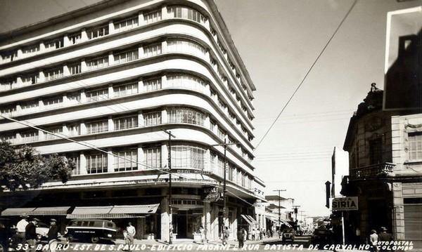 Foto antiga da Rua Batista de Carvalho em Bauru