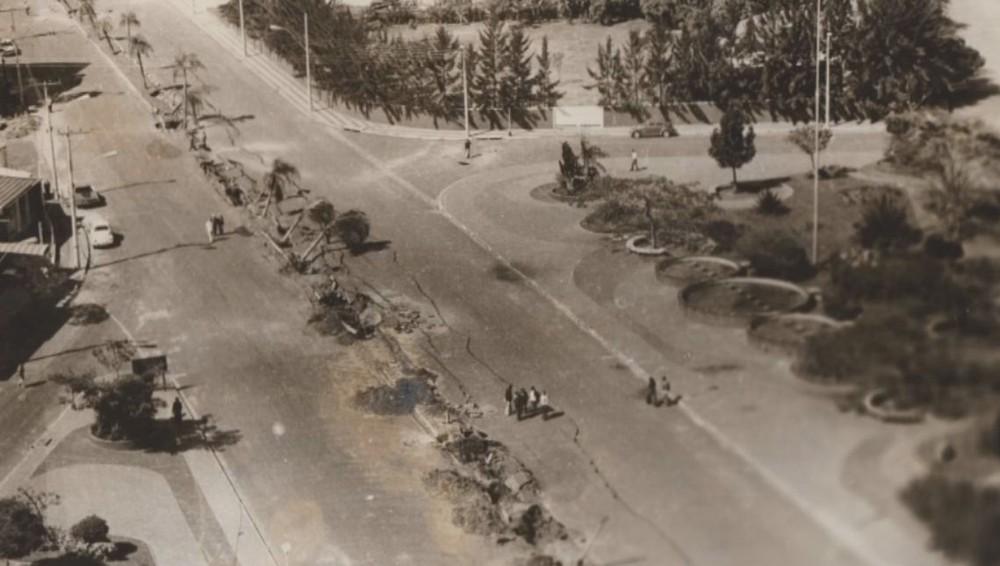 Avenida Nações Unidas, em Bauru, depois de explosão causada por vazamento de combustível no dia de uma visita presidencial