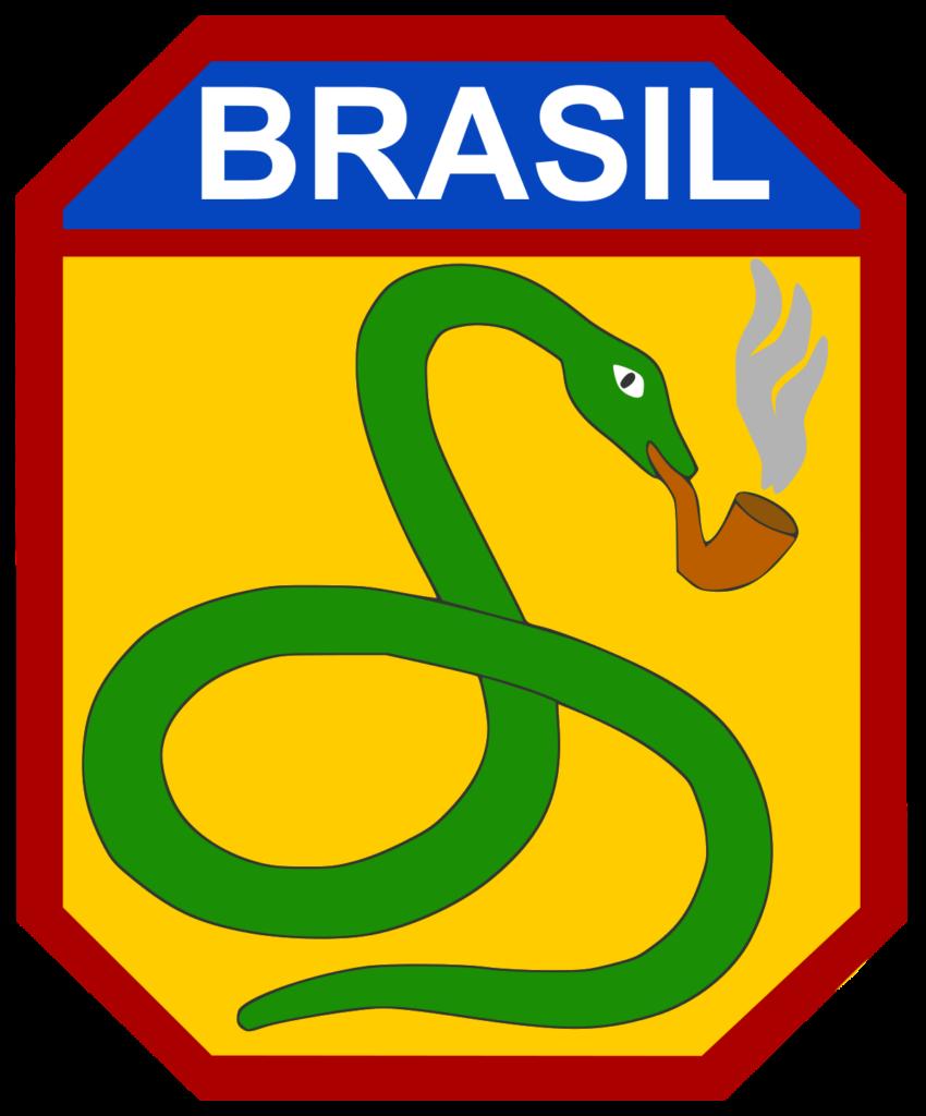 Símbolo da FEB. Segunda Guerra Mundial cobra fumando Brasil